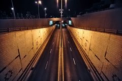 晚上街道时间 图库摄影