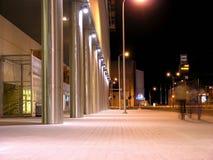 晚上街道视图 免版税库存图片