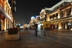 晚上街道 免版税库存图片