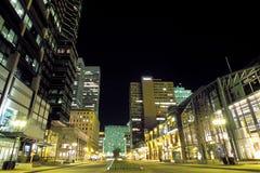 晚上街道 免版税库存照片