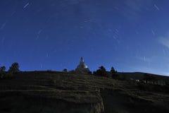晚上西藏 库存照片