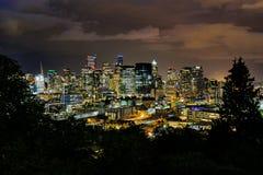 晚上西雅图地平线 库存图片
