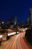 晚上西雅图 免版税库存照片