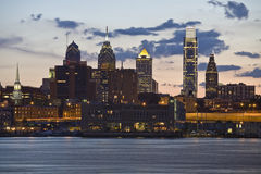 晚上费城 免版税库存照片