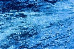 晚上起波纹的水 免版税库存照片
