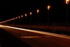 晚上路 免版税图库摄影