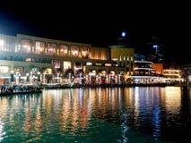 晚上迪拜 库存照片