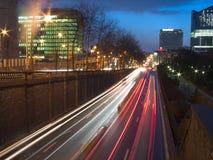 晚上都市视图 免版税库存图片