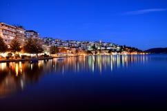 晚上都市风景 免版税库存图片