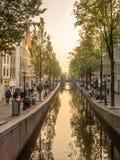 晚上阿姆斯特丹市场面 库存照片