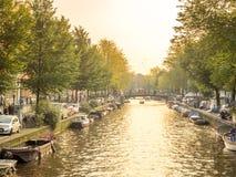 晚上阿姆斯特丹市场面 库存图片