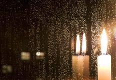 晚上雨 免版税库存照片