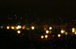 晚上雨 库存图片