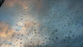 晚上雨 免版税库存图片