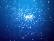 晚上露天空间星形 免版税库存照片