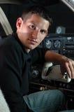 晚上飞行员 图库摄影