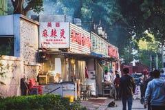晚上食物市场在北京,中国 免版税库存图片