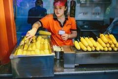 晚上食物市场在北京,中国 免版税库存照片