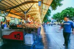 晚上食物市场在北京,中国 图库摄影