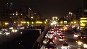 晚上巴黎业务量 影视素材