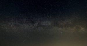 晚上满天星斗的天空背景 免版税库存照片