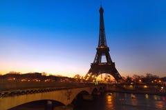 晚上巴黎视图 免版税图库摄影