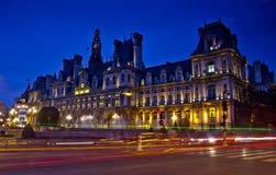 晚上巴黎,法国 免版税库存图片