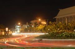 晚上pekanbaru 免版税图库摄影