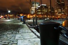 晚上rowe s码头 图库摄影