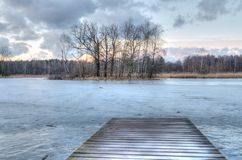 晚冬风景 库存照片