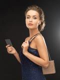 晚礼服的妇女 免版税库存照片