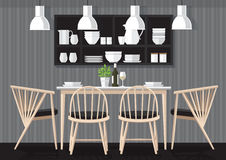 晚餐室设计 免版税库存图片