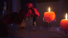 晚餐浪漫史被弄脏的背景 股票录像