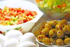 晚餐菜沙拉 免版税库存图片