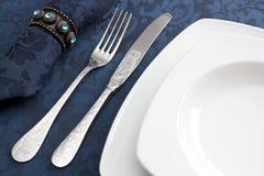 晚餐装饰,背景 免版税库存图片