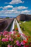 晨曲卡罗来纳州城堡在阿尔巴尤利亚,罗马尼亚 免版税库存照片
