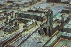 晨曲卡罗来纳州城堡的微型表示法 库存图片