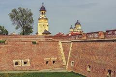晨曲卡罗来纳州堡垒,阿尔巴尤利亚 免版税图库摄影