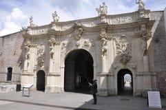 晨曲卡罗来纳州, 6月15日:关闭从晨曲卡罗来纳州堡垒的GateIII在罗马尼亚 库存图片