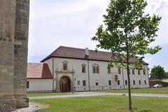 晨曲卡罗来纳州, 6月15日:从晨曲卡罗来纳州堡垒的历史建筑在罗马尼亚 库存照片