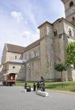 晨曲卡罗来纳州, 6月15日:从晨曲卡罗来纳州堡垒的圣迈克尔大教堂在罗马尼亚 图库摄影