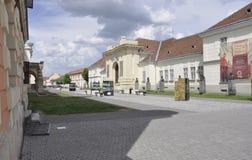 晨曲卡罗来纳州, 6月15日:从晨曲卡罗来纳州堡垒的联合霍尔在罗马尼亚 免版税库存图片