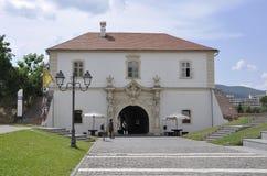晨曲卡罗来纳州, 6月15日:从晨曲卡罗来纳州堡垒的门IV在罗马尼亚 免版税图库摄影