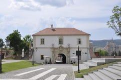 晨曲卡罗来纳州, 6月15日:从晨曲卡罗来纳州堡垒的门IV在罗马尼亚 免版税库存照片