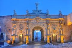 晨曲Iulia堡垒第三个门  库存照片