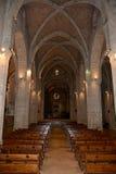 普伊格圣玛丽皇家修道院教会  免版税库存照片