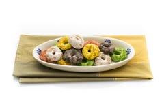 从普利亚的传统意大利快餐叫Taralli 库存照片