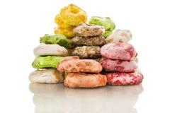 从普利亚的传统意大利快餐,称Taralli用糖 免版税库存图片