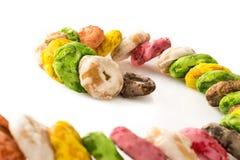 从普利亚的传统意大利饼干,称Taralli 免版税库存照片