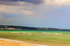 普利亚的最美丽的沙滩:Torre Vado 意大利(SALENTO) 免版税库存照片